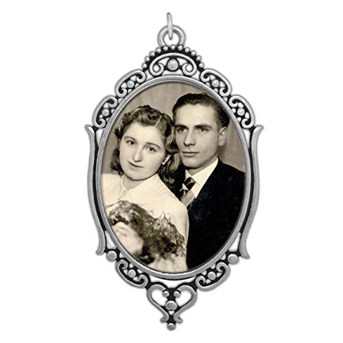 - Bridal Wedding Bouquet Photo Charm Oval W/Clear Cover and Photo Resizing Software