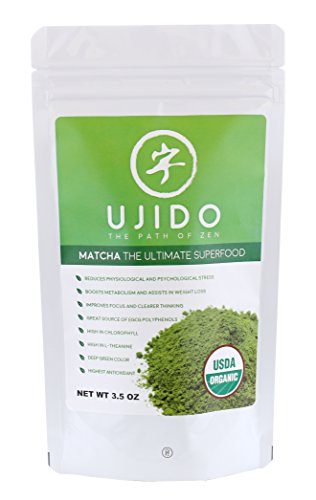 ujido japanese usda organic matcha green tea powder  3 5oz