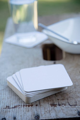 BAR DUDES Cardboard Coasters 100 Pack 4''x4'' Square - White Blank Coasters Bulk Set - Paper Coasters for Drinks, DIY, Kids Arts and Crafts by BAR DUDES (Image #5)