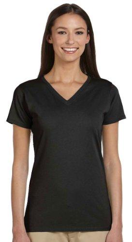 econscious Ladies Organic Cotton V-Neck T-Shirt, Black, Small