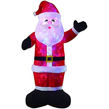 VIDAMORE 8 Foot Large Inflatable X-Mas Plush Santa LED Lighted Inflatables Outdoor Holiday Yard Lawn Decorations