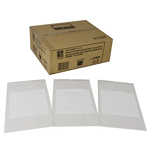 C-Line Write-On Reclosable Small Parts Storage Bags, 6 x 9 Inches, 1000 per Box ()