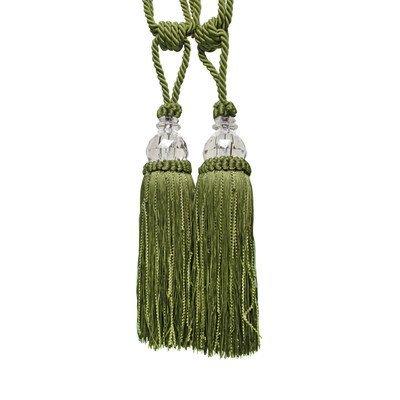 Textiles Plus Krista Tassel Curtain Tieback, Sage INC AH29102-Sage