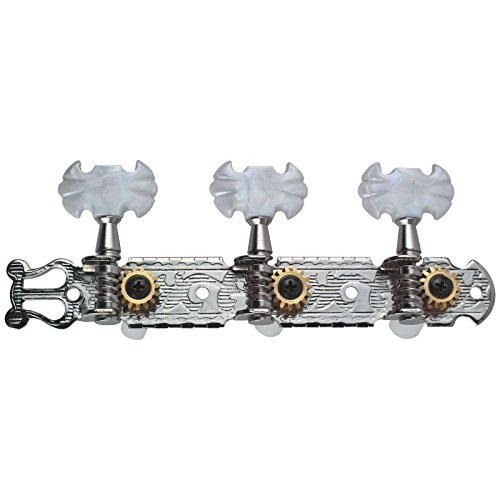 Golden Gate F-2101 Classical Guitar Tuners - 2 Planks (3+3) - Chrome by Golden Gate