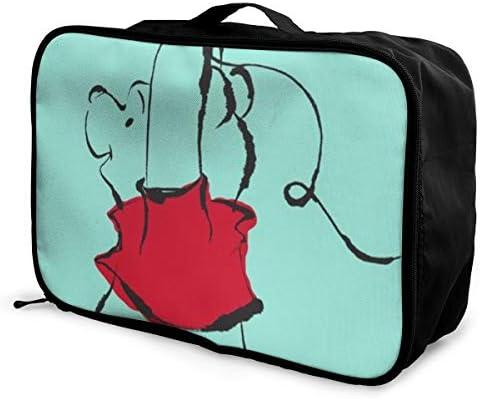 ボストンバッグ カワイイウィニー キャリーオンバッグ トラベルバッグ 大容量 厚手 丈夫 荷物 折りたたみ スーツケース固定可 旅行 出張 男女兼用 かわいい おしゃれ
