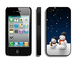 Individualization Christmas snowman iPhone 4 4S Case 18 Black