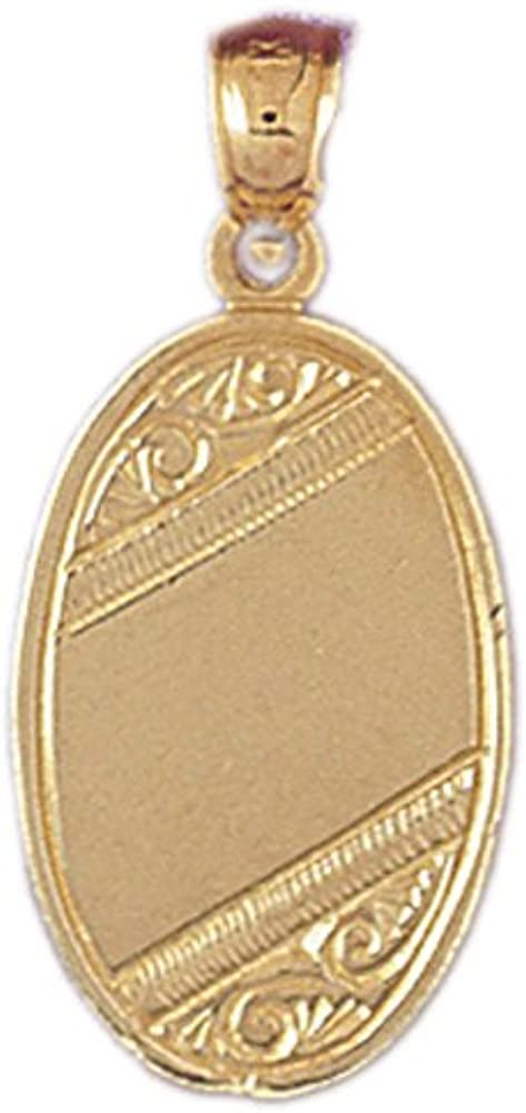 14k Yellow Gold Handcut Engraveable Plate Pendant