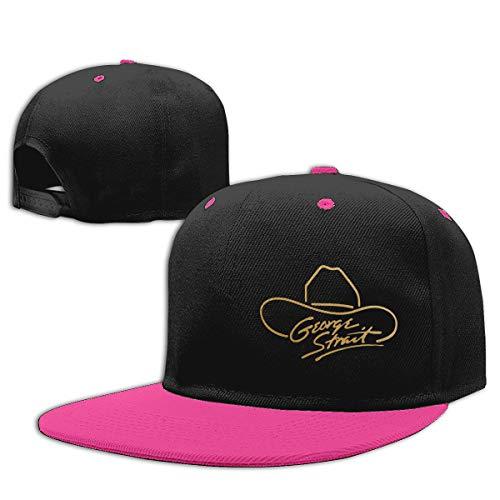 LEILEer George Strait Unisex Contrast Hip Hop Baseball Cap Pink]()