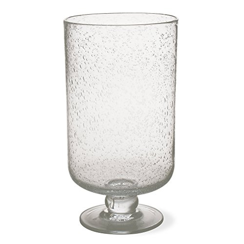 Footed Hurricane - tag 750305 11.75 by 6.25-Inch Bubble Glass Hurricane, Large, Clear