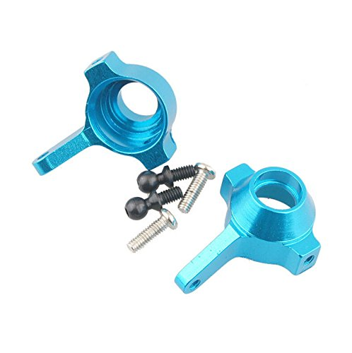 Jiexing For WLtoys A959 A969 A979 Spare Parts Upgrade Aluminum Front Steering Hub L/R Base C A959-05 580023 For HSP 1/18 Scale Model RC Car-Blue