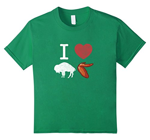 Kids I Love Buffalo Wings T-Shirt - Chicken Wings Shirt 12 Kelly (Buffalo Chicken Wing)