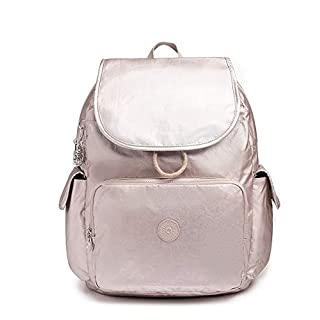 Kipling Women's Zax Backpack Diaper Bag, Metallic Rose, One Size