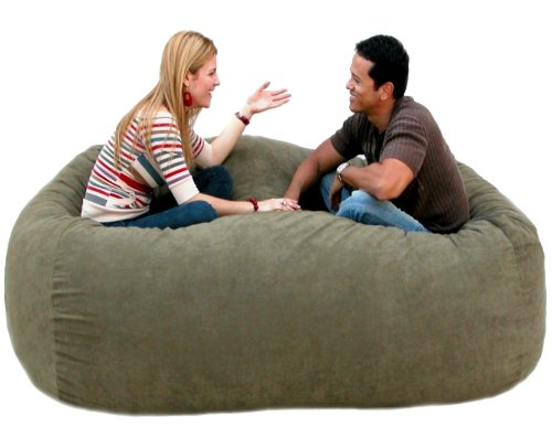 Cozy Sack 7-Feet Bean Bag Chair, X-Large, Olive