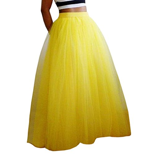 Yellow Tiered Skirt - 9