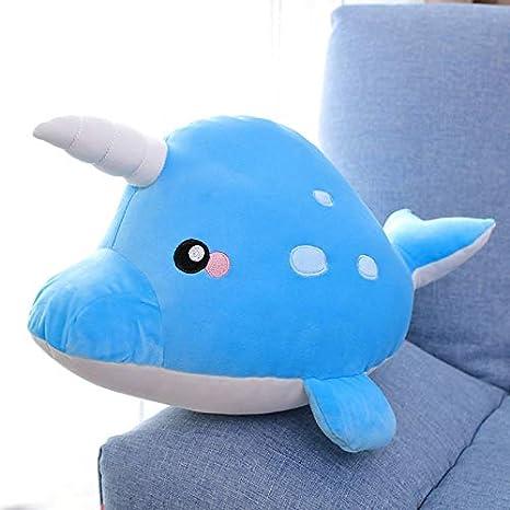 Amazon.com: B_PEAL - Cojín de peluche con forma de tiburón ...