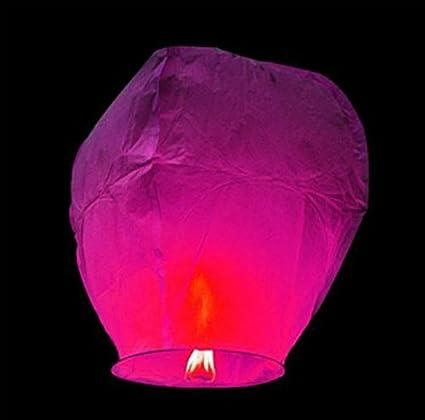 Amazon.com: 2 unidades de globos de papel volador para boda ...