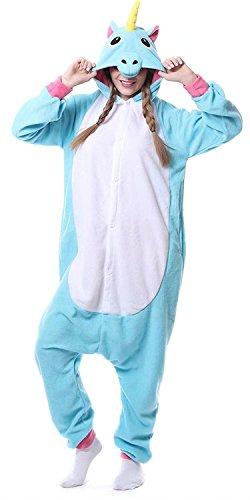 Ameyda Unicorn Onesie Costume Adult Animals Pajamas Cute Sleepwear for Halloween - Cozy Unicorn Sexy Adult Costumes