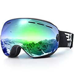 Product description:Anti-winds and keep you warm. Anti-fog and two way venting for clear and clean vision. Comfortable triple-layer foam for face fitting. 100% UV400 Protection. PC lens + TPU frame for impact-resistance. Elastic strap for bet...