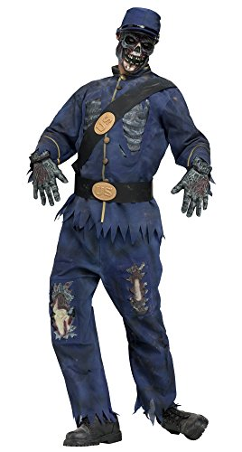 Military Zombie Costume (Fun World Union Zombie ~ Halloween Costume, Adult one)