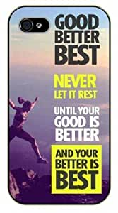 Diy For Iphone 6Plus Case Cover Good, better, best. Never let it rest until your good is better - black plastic Life quotes, inspirational and motivational Surelock Authentic