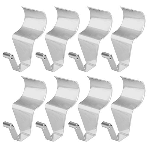 Vinyl Siding Hooks for Hanging, Heavy Duty Light Mailbox Planter Hanger 8 Pack ()