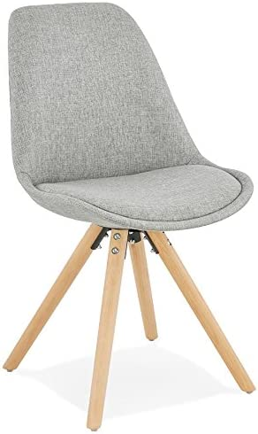 Alterego Chaise scandinave 'Hiphop' en Tissu Gris: