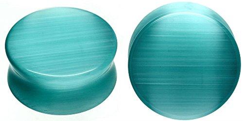 SoScene Aqua Cats Eye Organic Stone Ear  - Organic Ear Plugs Shopping Results