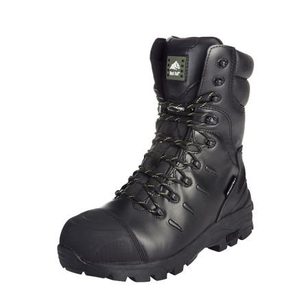 Rock Fall Monzonite Black S3 M HRO SRC Composite Toe Cap Waterproof Safety Boots (US 7)