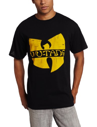 LYYJY Men's Wu Tang Clan Classic Yellow Logo T-Shirt, Black, X-Large