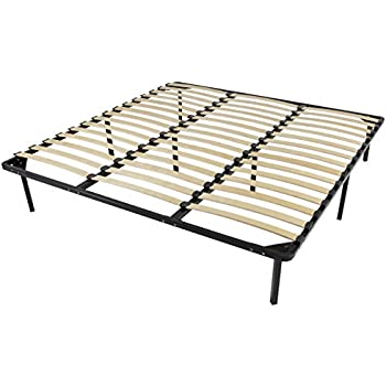 Amazon Com Best Choice Products Wooden Slat Metal Bed