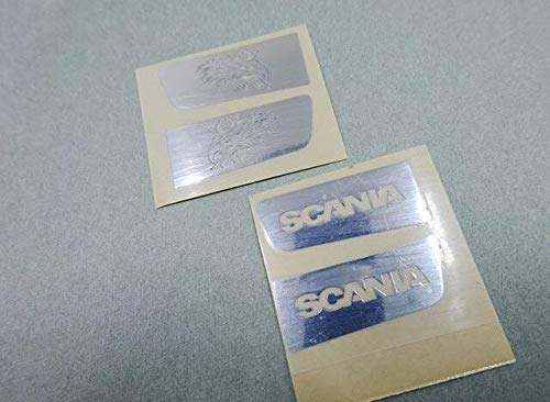 (Part & Accessories 1/14 Scale Tamiya Tractor Trailer Hobby Highline 56514 56323 56318 R470 R620 Leisu RC4DW (Hawk Head and Hobby Logo Stickers) - (Color: Hawk and Scania))