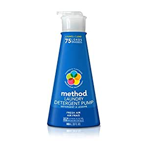 Method Concentrated Laundry Detergent, Fresh Air, 30 Ounce, 75 Loads