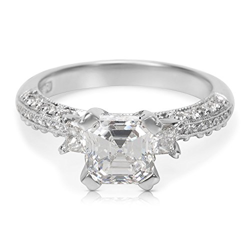 GIA Certified Tacori Diamond Engagement Ring in Platinum 1.93 ctw F VS1 (Tacori Engagement Ring)
