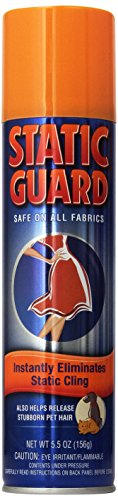 Static Guard Static Cling Spray, 5.5 oz (Pack of 6) (Best Static Remover For Clothes)