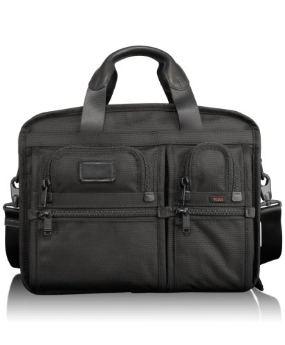 Tumi Alpha Expandable Organizer Computer Brief 026141DH,Black,one size