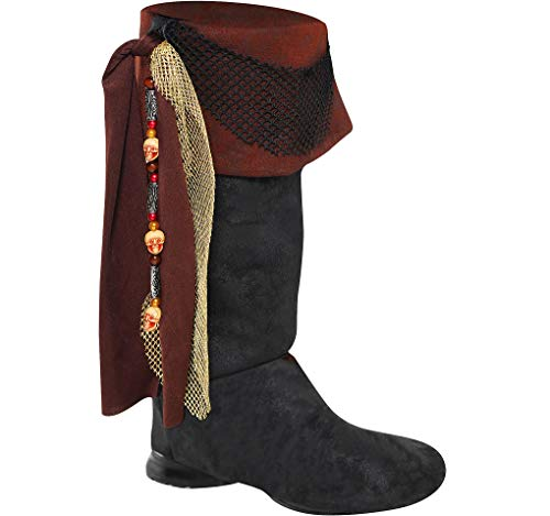 Amscan Pirate Boots Toppers - Fun Costume Accessory