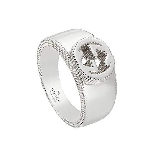 Gucci Silver Ring Interlocking 6 3/4(US) YBC479229001014