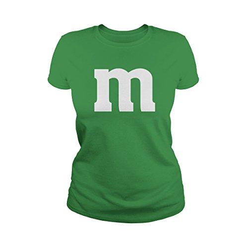 (Poogky Women's Letter M Halloween Costume T-Shirt (M,)