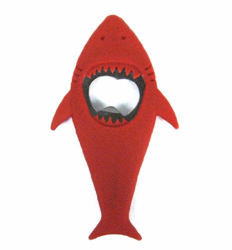 Present Time Shark Bottle Opener, Red