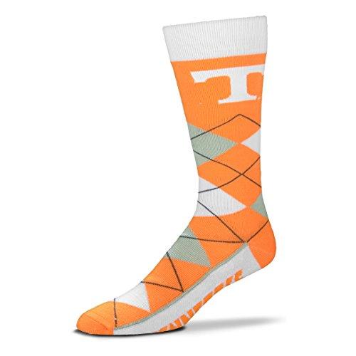 (NCAA Tennessee Volunteers Vols Argyle Unisex Crew Cut Socks - One Size Fits)