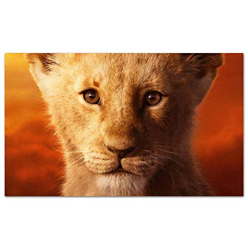 Video Game Posters jd mccrary as Simba The Lion King 2019 4k Picture Print on Canvas for Home Decor 28x 20 inches