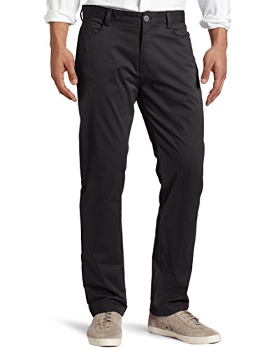 Pants Casual Black (Calvin Klein Men's Slim Fit 4-Pocket Stretch Sateen Pant, Black, 32Wx34L)