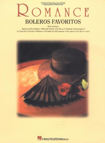 (Romance: boleros favoritos: piano/vocal/guitar (Spanish Edition))