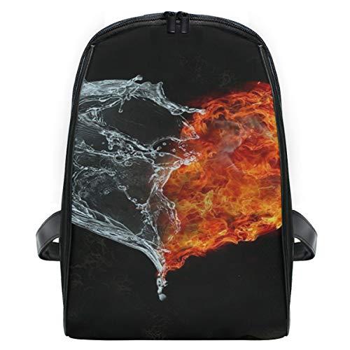 Orange Zebra Mini Backpack - Water And Fire School Backpack For Girls Kids Elementary School Bag Mini Backpacks