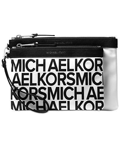 Michael Kors Women's Graphic Logo Travel Pouch Clear/Black (Clear Michael Kors Handbags)