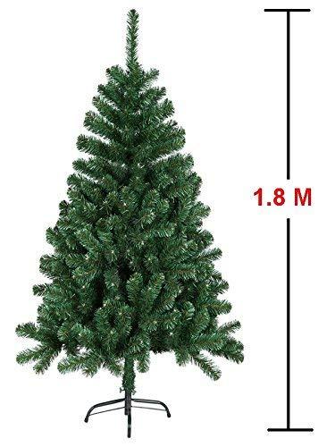 Mctech, albero di Natale artificiale, colore: verde, PVC, 180 cm 2 spesavip