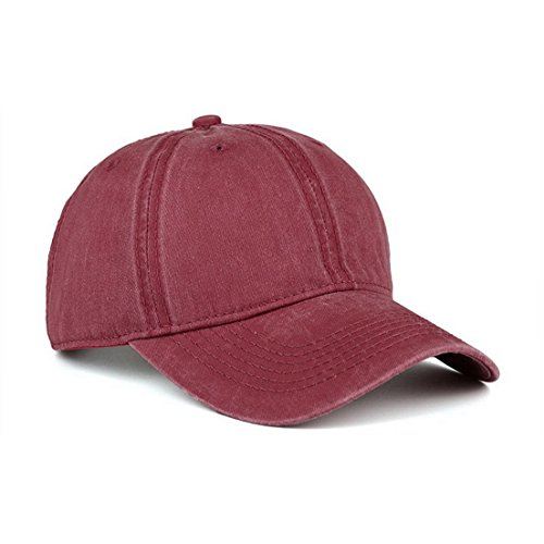 VANCIC Low Profile Washed Brushed Twill Cotton Adjustable Baseball Cap Dad Hat for Men Women (Purplish Red)
