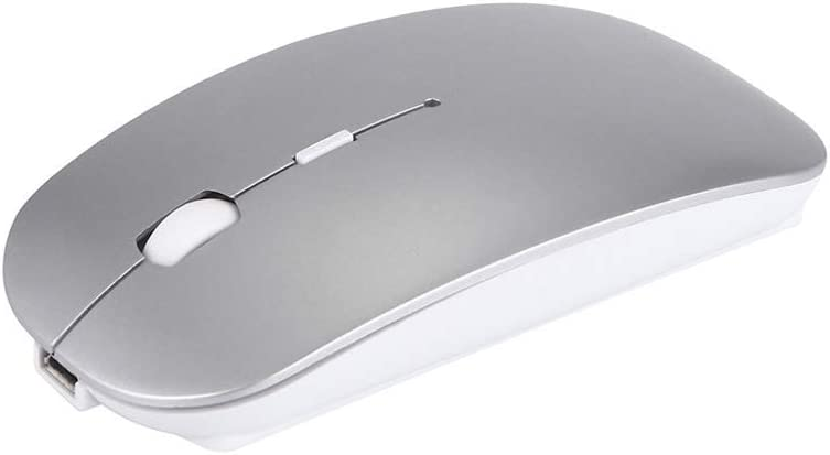 USB Port Feels Comfortable L57mm /× W112mm /× H20mm ka Wireless Computer Mouse Mute and Smooth Suitable for PC//Tablet//Laptop 4 Colors Mouse Color : Gray