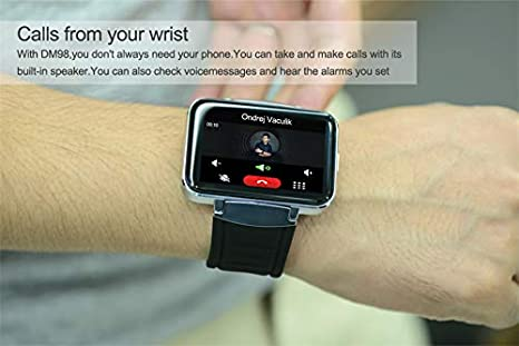 Amazon.com: BLACK Bond DM98 2.2INCH HD Camera 3G Smart Watch ...