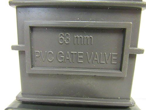 SCH 80 PVC 2 Inch Gate Valve, Slip X Slip by OMEN (Image #2)